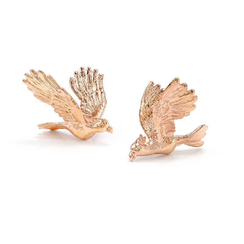 Cockatoo Earrings - pink gold
