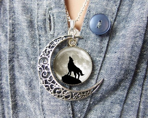 Dances with Wolves - Moon Necklace ︱ ︱ birthday gift Valentine's Day gift