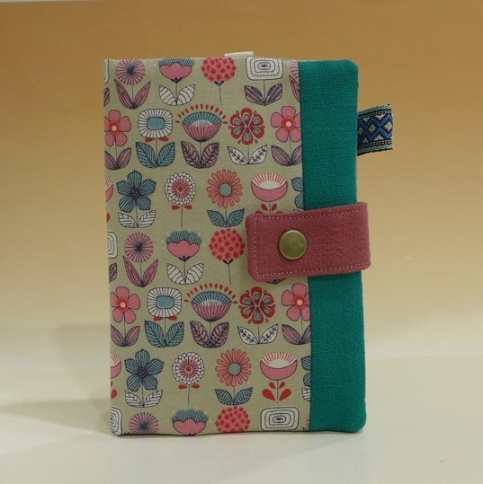 Multi-function passport holder / long cloth folder*Nordic flowers*