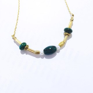 Terre * lazy drape imperial stone necklace