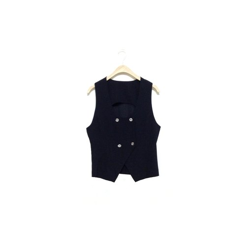 │ │ knew priceless vintage black vest VINTAGE / MOD'S