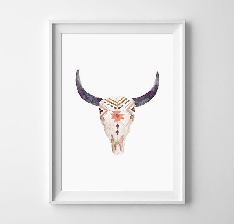 bull head (totem), can be customized Hanging Poster