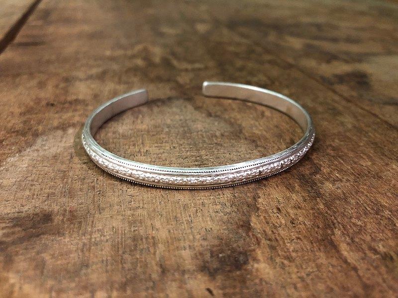 凡利斯之二・純銀手環(加厚)・雪地銀   Phyllis