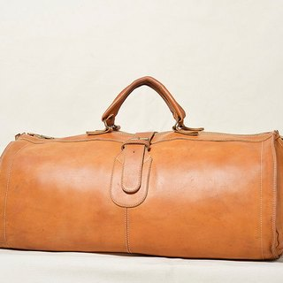Vintage leather duffel bag antique bag