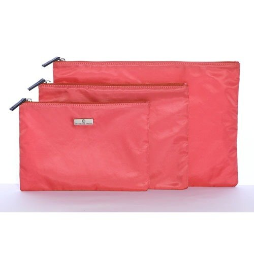 Organized Travel- three-piece multi-function travel pouch (Great Orange)
