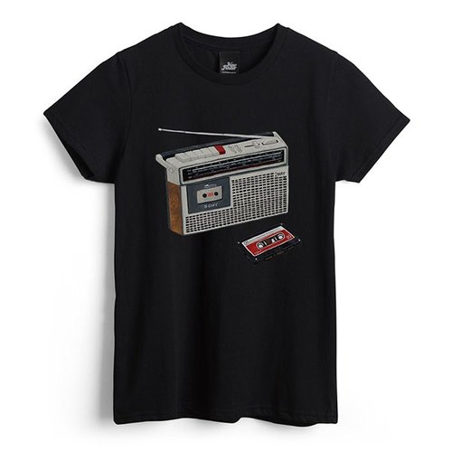 Cassette tape recorders - black - Women's T-Shirt
