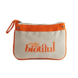法國my biotiful bag有機棉Small Flat Pouch-Orange