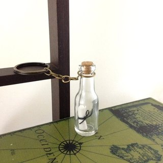 Message in a bottle / drift bottles carry oil fragrance ornaments / Bronze keychain (three Iraqi hymn choose a fragrance oil compound)