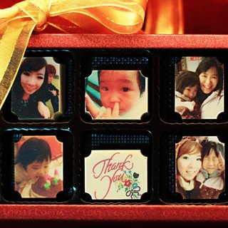 Happy cocoa -6 into customized photo chocolate