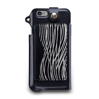 iPhone 6s Plus - lanyard clip stand holster - dark silver