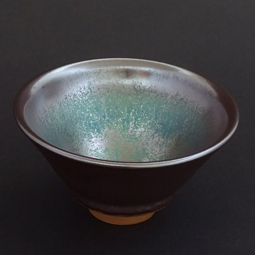 [] Yao Xin can be kiln blue gold Tianmu - Doo bowl 160cc (Acura) original checks Outgoing Quality Assurance latest work (in small quantities)
