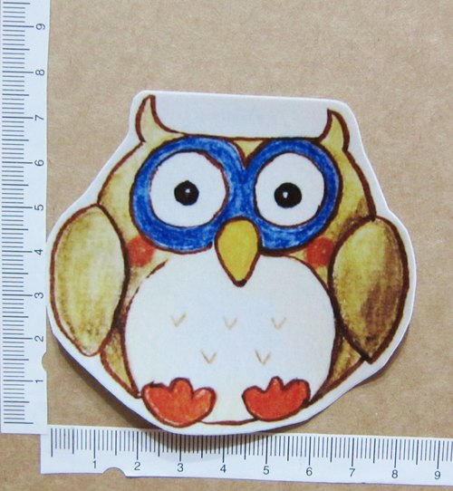 Hand painted illustrator style full waterproof sticker owl boyfriend