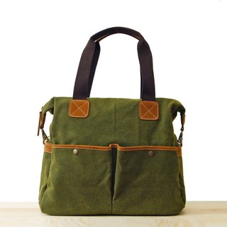 [Happa] whims large capacity tote bag - stonewashed canvas classic (Olive olive green) sportsman class packet exchange gifts Required