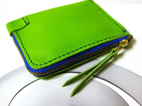 New Listing - Convenience bill purse - play _ green and blue color series
