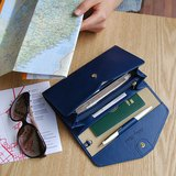 PLEPIC -Holiday旅程假期護照手拿皮夾-海軍深藍,POJ92023