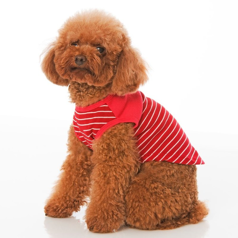 Round neck sleeveless color matching pet clothes
