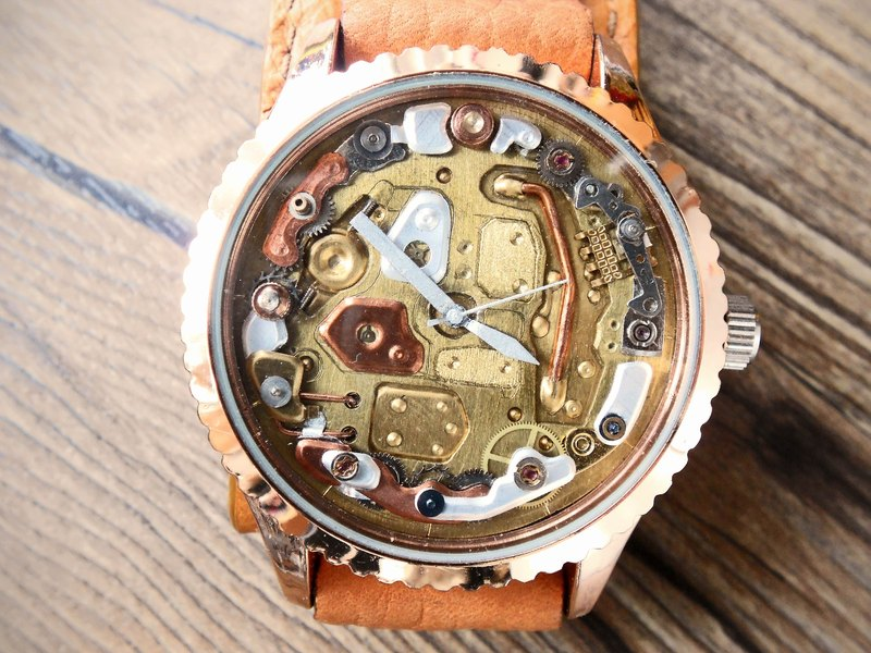 Machine 20 (one piece only) Handmade watch dial and leather strap (SOLD 已售完)