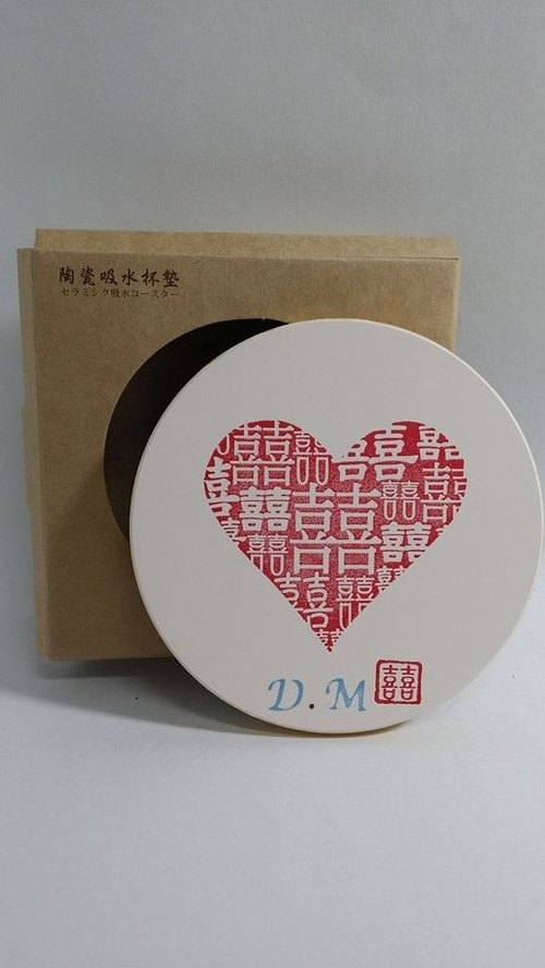 [Momo.mami] full of small things Happiness Wyatt wedding - absorbent coaster