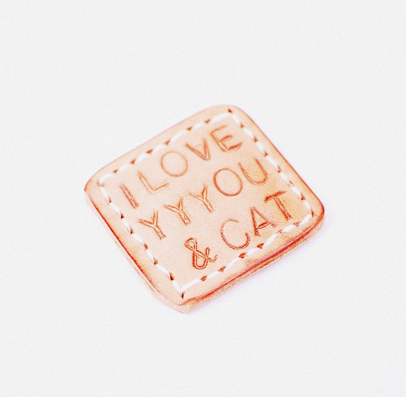 I LOVE YYYOU & CAT - Leather Magnet. gift