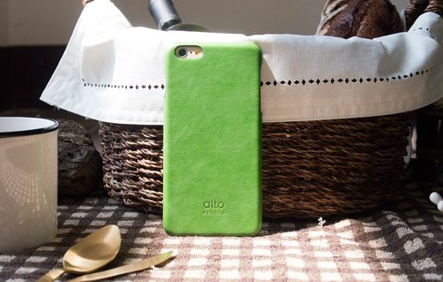 Alto iPhone 6 Plus / 6S Plus Leather Case Rear Cover, Original - Lem Green [Add to Cart] Leather Case Leather Case