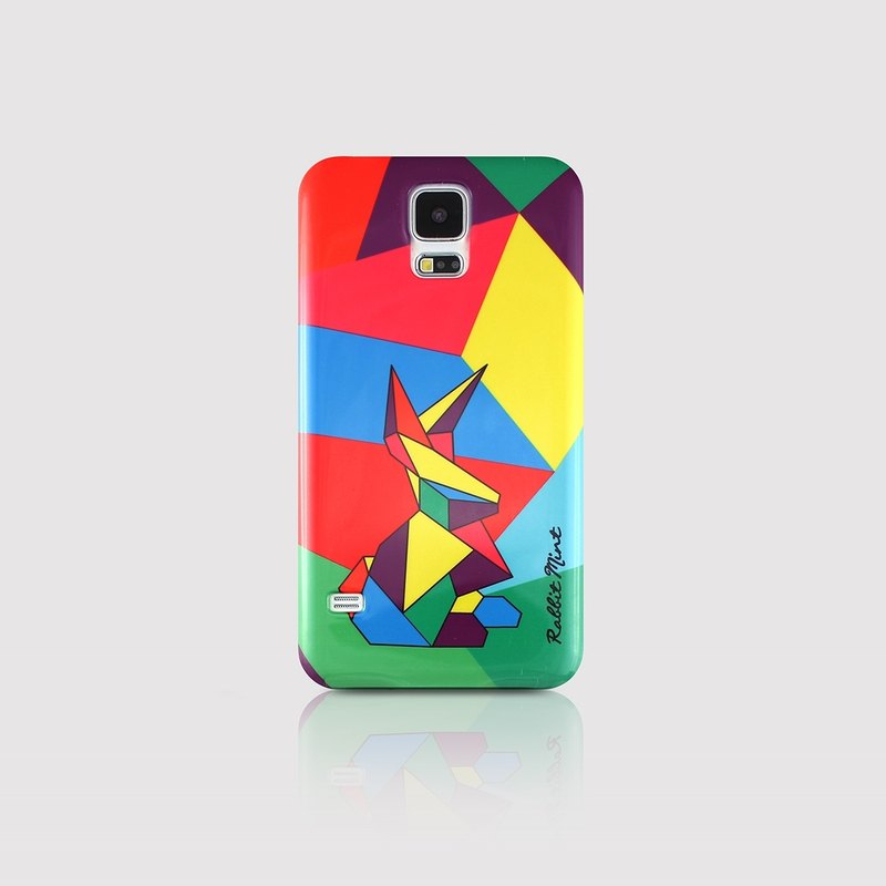 (Rabbit Mint) Mint Rabbit Phone Case - Tangram Rabbit Series - Samsung S5 (P00058)