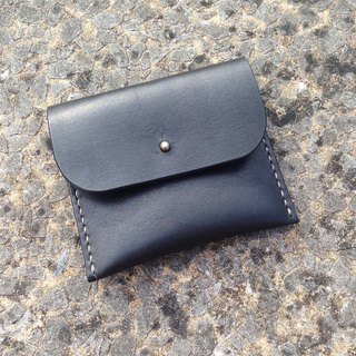 Myself leather coin purse graphite black / custom lettering birthday gift