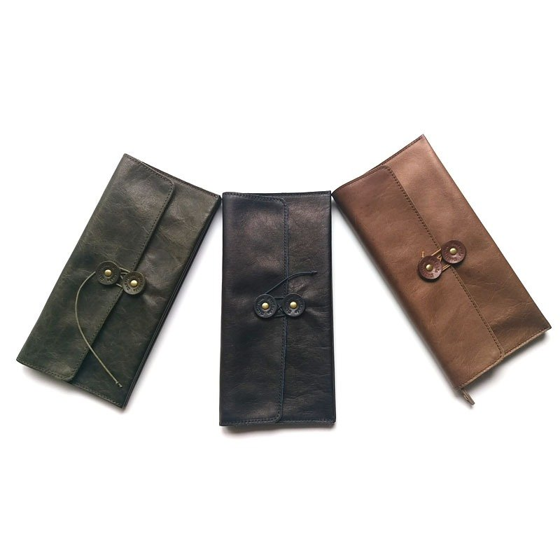 Plants rub roping long leather envelope wallet Japan Shenglin company's leather goods brand Damasquina-