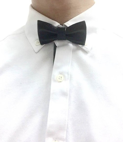 Black suede mini bow tie Bowtie