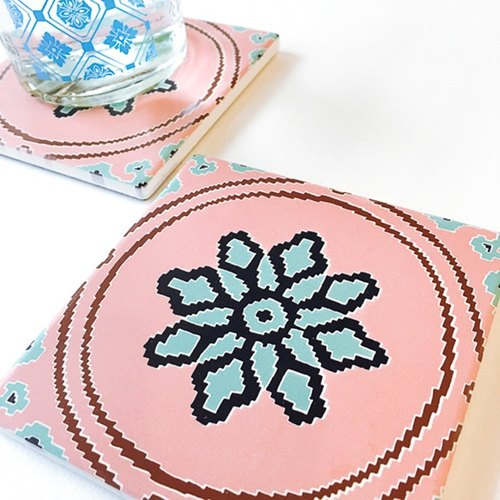 Four Seasons Series【Summer, Pink Champagne】Coaster