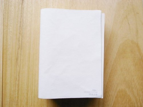 [IAN - Pure Plan] [cotton] notebook white organic cotton