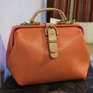 Lovey leather Accessories / retro female doctor bag - spring cherry pink 23 cm basic models