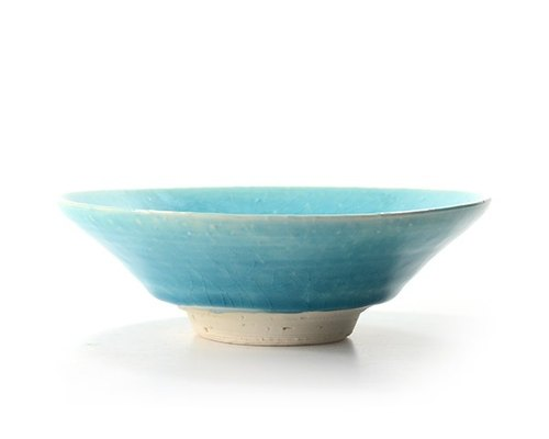 Turkish evening twilight blue flat bowl (in)
