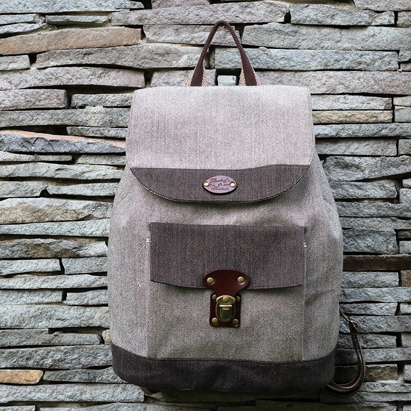After the gray backpack intellectual personality - hand-made material package