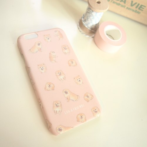 Pomeranian iPhone 6/6s, 7 Case cover in Nude Pink
