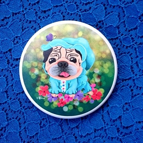 Pug Pocket Mirror-BABY LOVE