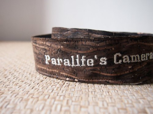 Paralife YOUR NAME's Wooden Grain Cork Camera Strap for DSLr / SLR all Custom Handmade Thick