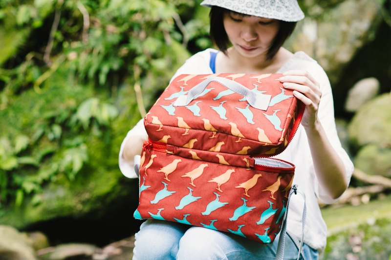 Cool Bag / Crested Myna No.5 / Red