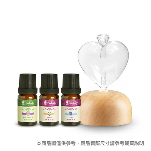 【Herbally herbs】 WISH wish fragrant diffuser combination (log + essential oil 10x3)