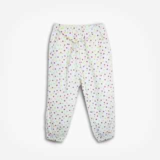 Playful colored dots thin trousers