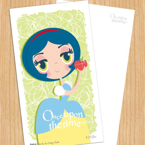 Sell ​​heads Princess Series Postcard - Snow White Snow White