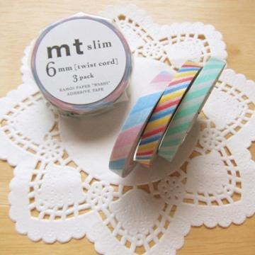 Mt and paper tape 6mm fine version 3 color group [MTSLIM10]