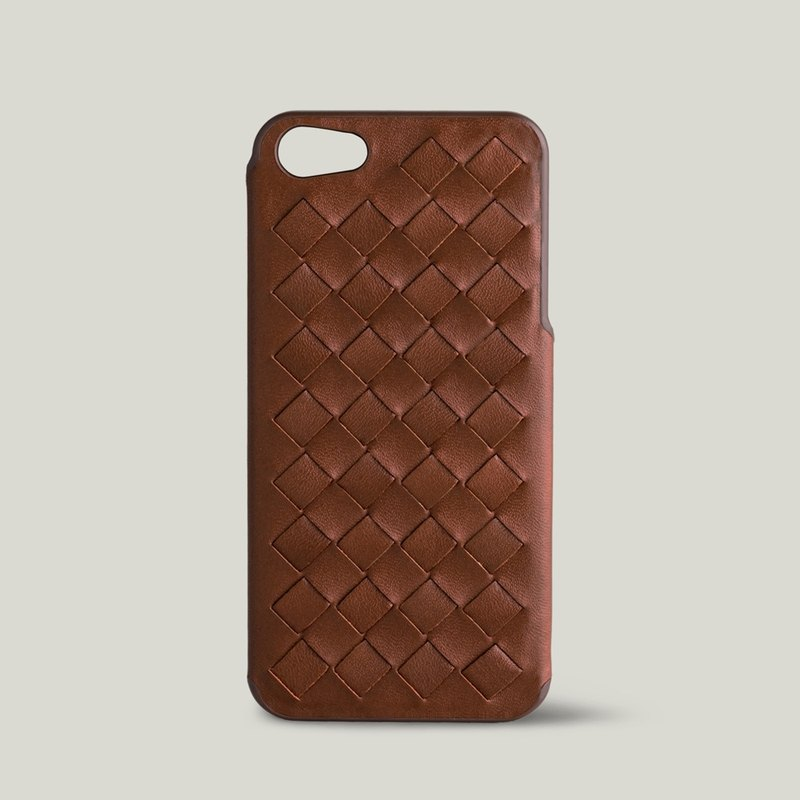 [Price Down Price Drops ↓] ivicase - iPhone 5 / 5S leather phone case - camel [knitting]