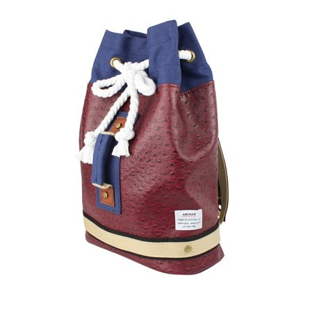 AMINAH-mysterious dark red personality boxing bag (small) [am-0250]