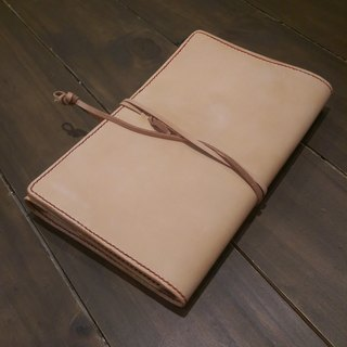 Handmade hand-dyed leather A5 6 hole loose-leaf notebook (free printing, embroidered words)