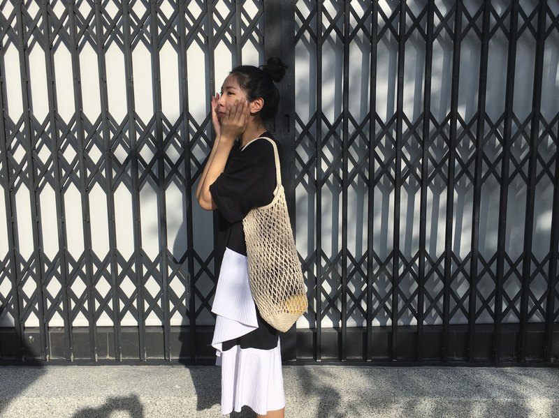Hand-woven mesh bag L ・Optional color
