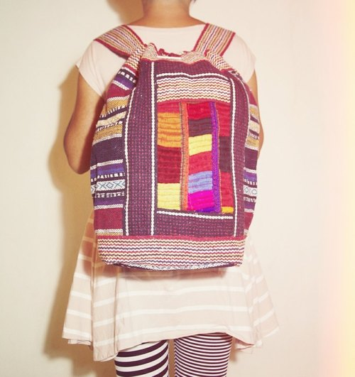 New feel ethnic embroidery Backpack (remaining one oh!)