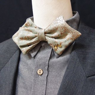 Rotro classical jacquard ,Asymmetry bow tie - big style