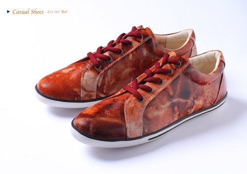 Special red canvas shoes