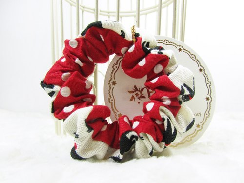 Hand made small hair scrunchy- Black cat fashion