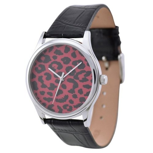 Leopard Pattern Watch (Ming red)